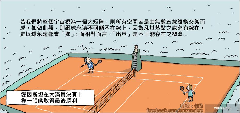 20140211 愛因斯坦出賽網球大滿貫